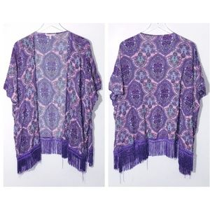 Victoria's Secret Fringe Bohemian Kimono Cover up